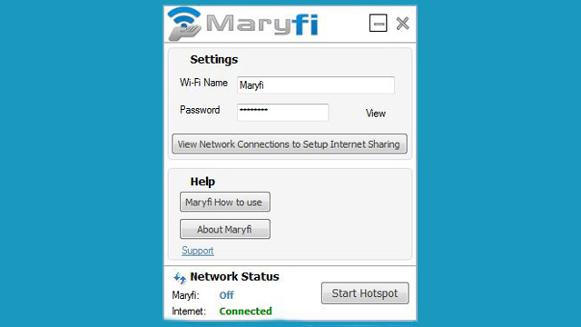 Maryfi windows pc hotspot