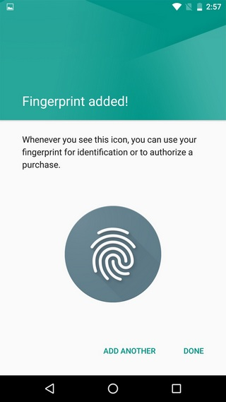 Android-fingerprint-added